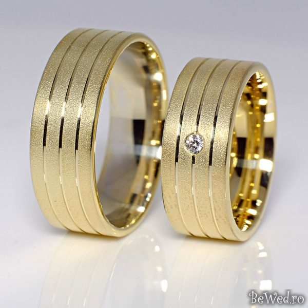 Verighete Din Aur Sau Platina Cu Diamant V082