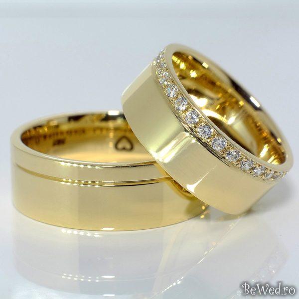 Verighete Din Aur Sau Platina Cu Diamante V097