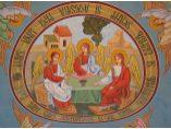 Plafonul intrarii in curtea manastirii - Manastirea Glavacioc #6