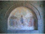 Pictura murala - Intrarea în Ierusalim - Manastirea Plumbuita #5