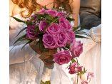 Buchet mireasa trandafiri lila - Rossemary Design #4