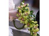 Buchet mireasa orhidee verde - Rossemary Design #5