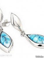 Cercei argint cu sticla de Murano - Cercei argint cu sticla Murano #7