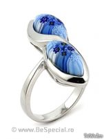Inele - Inel argint sticla de murano #5