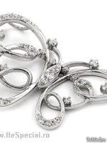 Pandative argint cu zirconiu