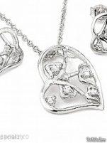 Seturi argint - Colier si cercei #9